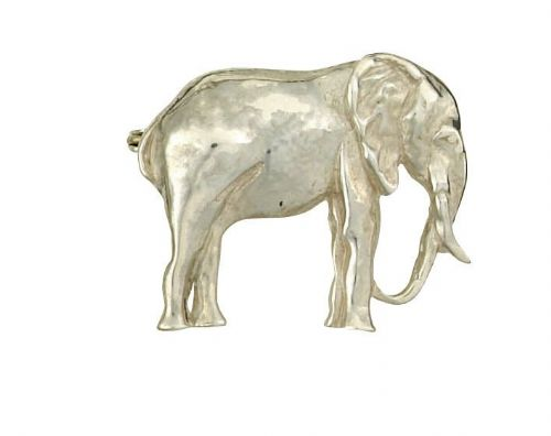 Elephant Brooch Solid Silver Handmade to Order Hallmarked Boxed